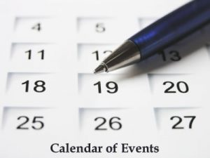 Click for current calendar of events.